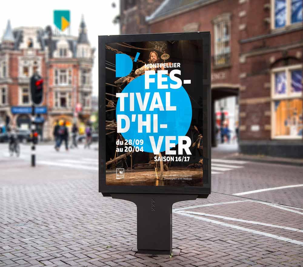 graphisme et création d'affiche pour un événement culturelle montpelier